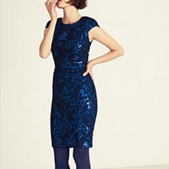 Eva Franco Dresses & Skirts - Eva Franco Floral Brocade Metallic Sheath Dress